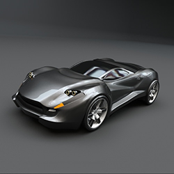 3d printing industry cg trader concept car