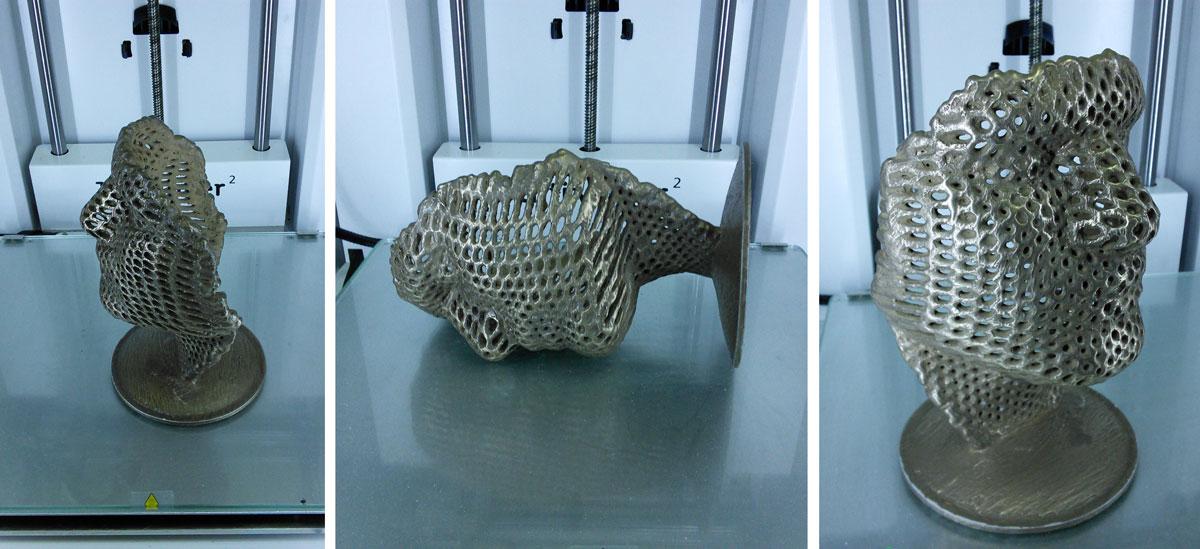 Bronzifing 3d printed plastic model
