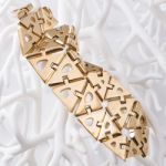 Nervous-System-3D-Printed-Gold-Kinematics-Swatch made by Cooksongold Gold 3D printer