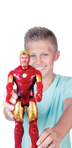 SUPER AWESOME ME 3D printed iron man action figure with Hasbro Disney and Walmart