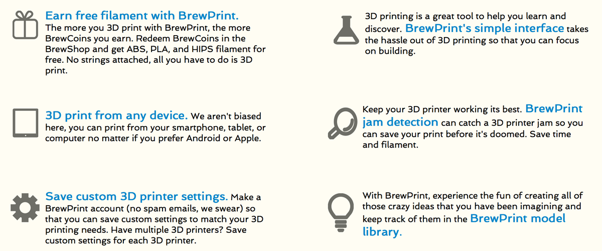 brewprint 3D printing software