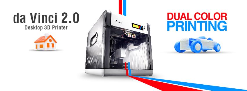 da vinci 2.0 duo 3D printer with dual extruders