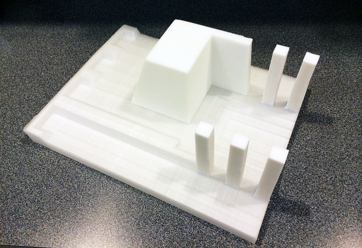 frank lloyd wright 3d printied brick mold