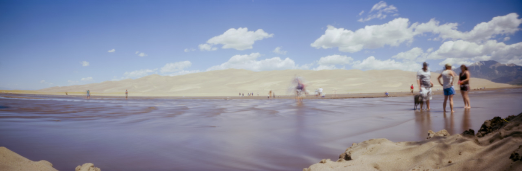 great sand dunes photo taken by 3D printed pinhole camera