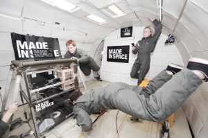 made in space testing 3D printer in zero g