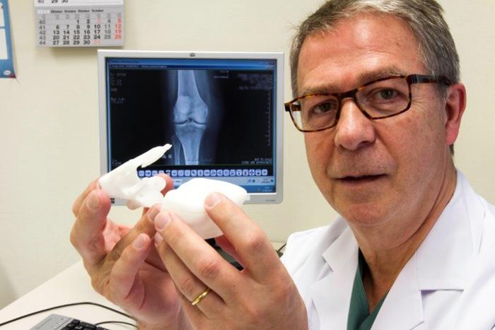 matérialiser Guide 3D du genou imprimé de radiographie