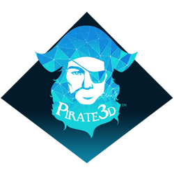 pirate 3D logo 3D printer