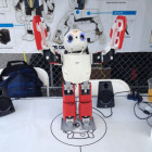 Robby the 3D Printed Humanoid Robot Shakes His 3D Printed Parts and Talks to the Crowd at WMF