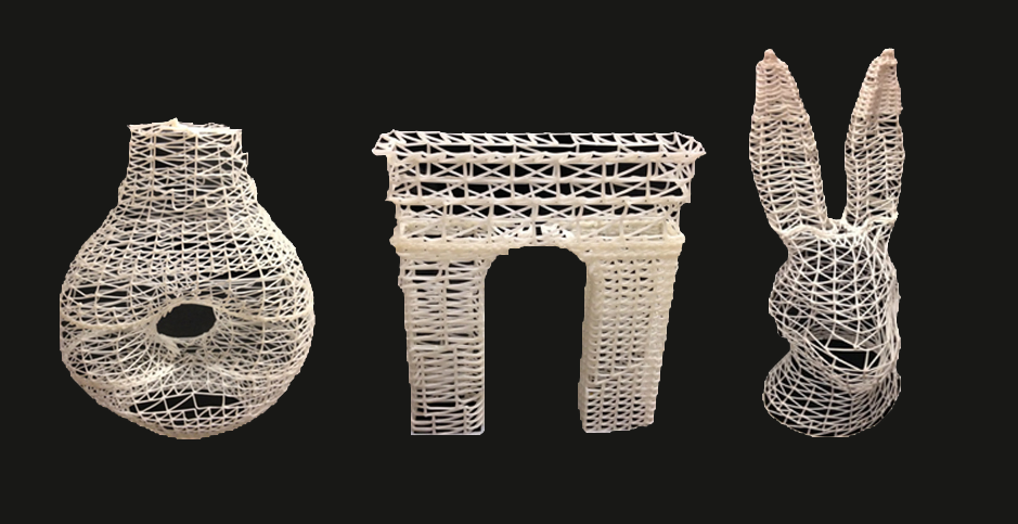 several objects 3d printed