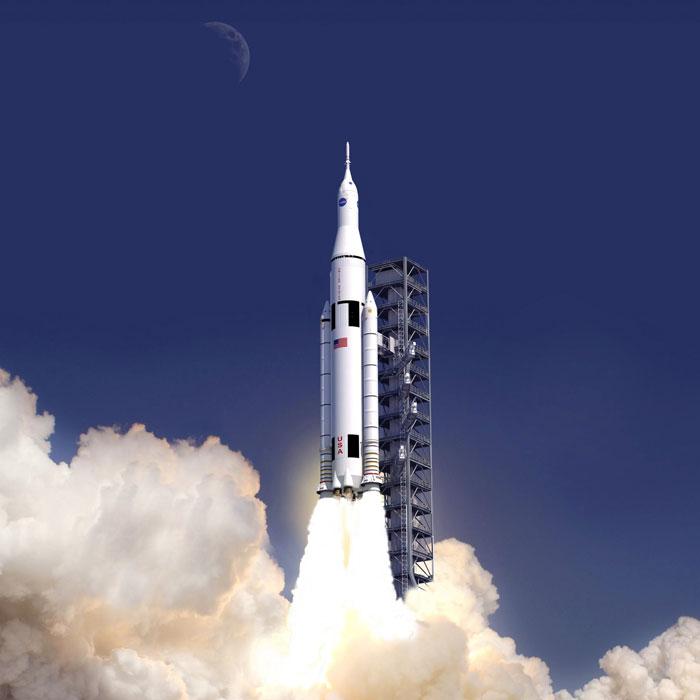 sls launch 3d printing