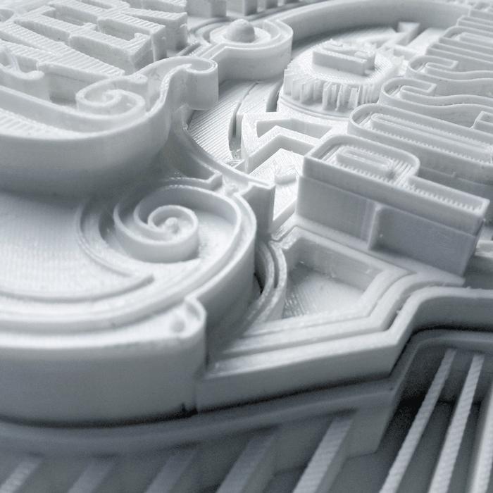 typeface detail 3d printing