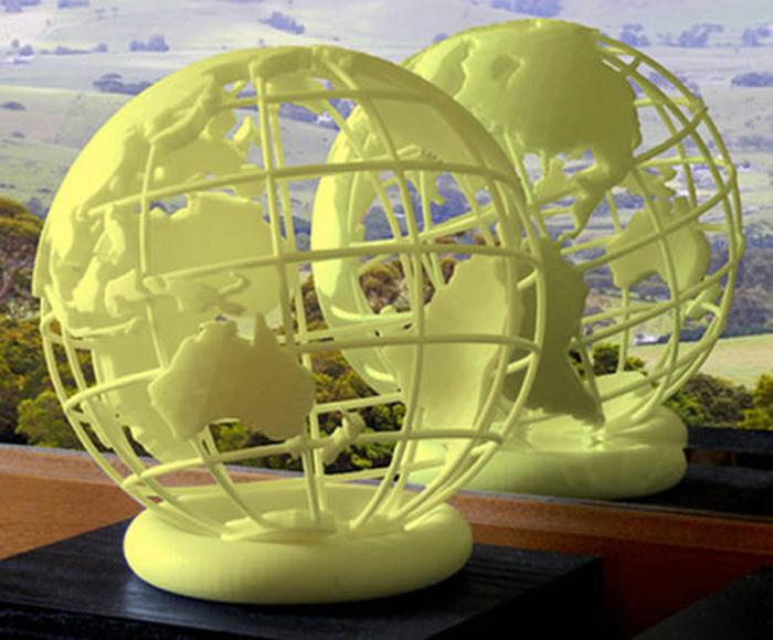 3D printed globes