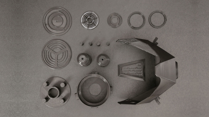3D printed parts for gas mask from adafruit