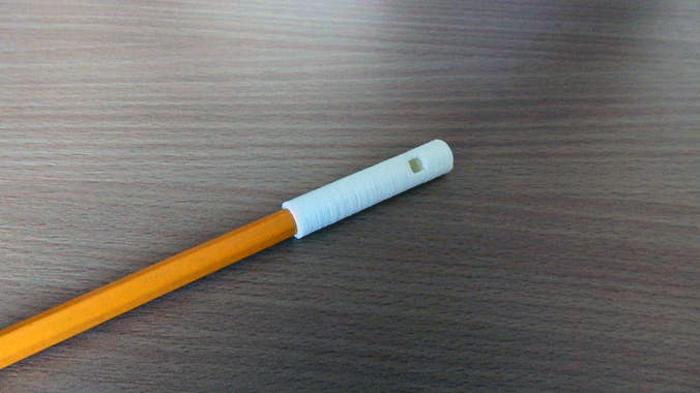 3D printed pencil top