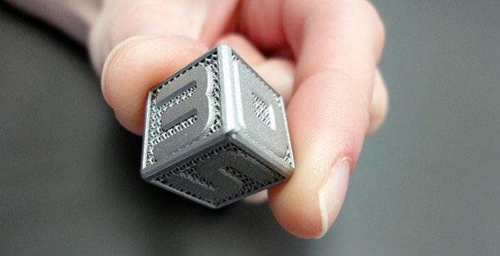 3D systems metal 3D printed logo