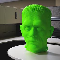 BOO! A GIANT 3D PRINTED FRANKESTEIN HEAD!