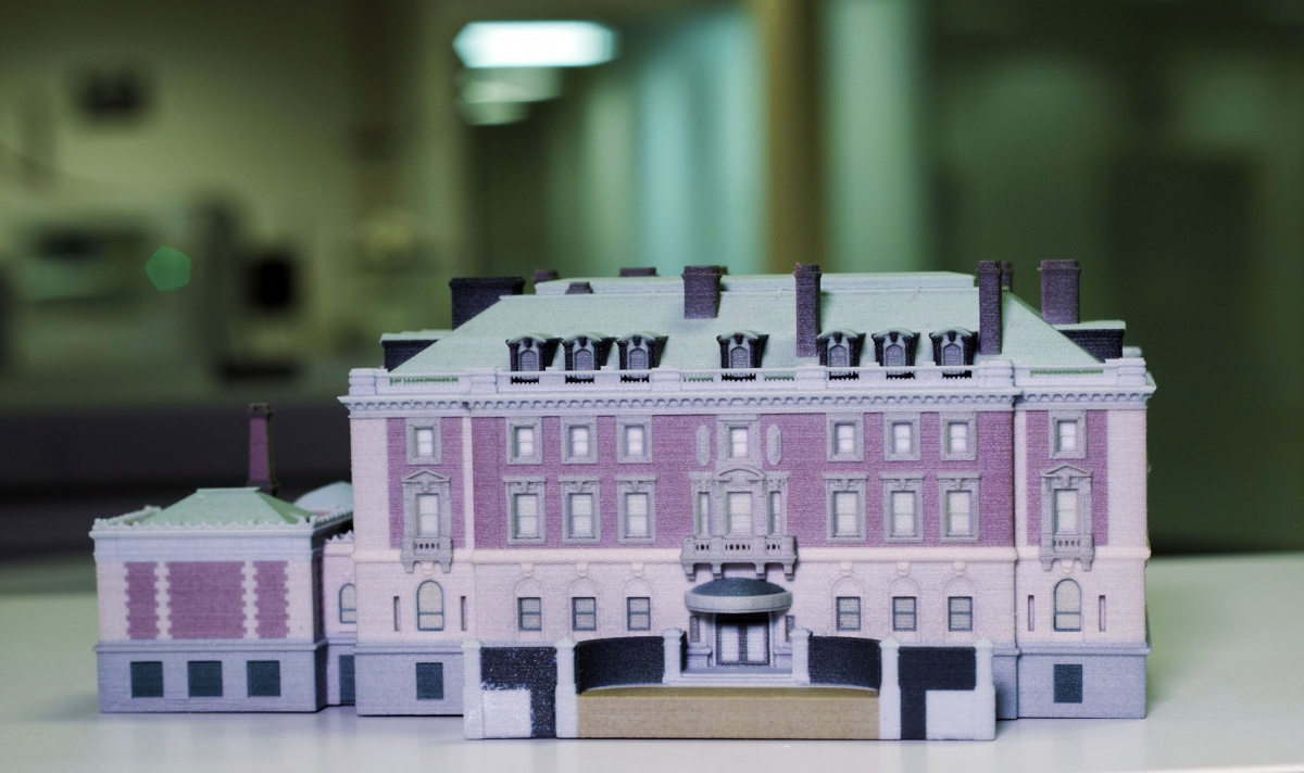 3d printing andrew carnegie mansion model