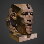 Granite head of Amenemhat III Sketchfab 3d printing