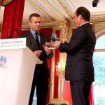Groupe Gorgé receives 2014 Prix de l'Audace Créatrice from the President of France, François Hollande