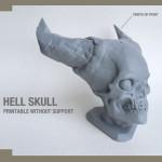 Hell Skull 3d printing liveprint