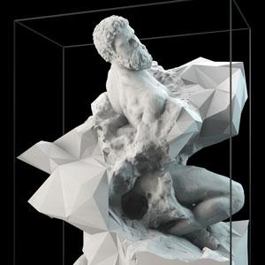 Quayola creative machines exhibition 3d printing
