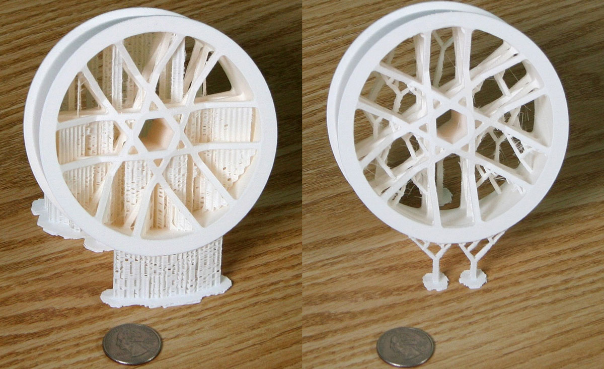 benes support 3d printing algorithm