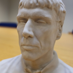 bez 3D printed bust for Manchester Science Festival