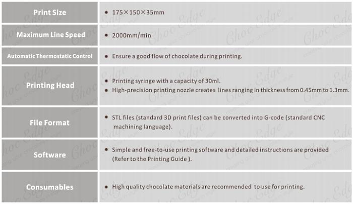 choc edge Chocolate 3D Printer