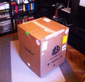 cube pro 3d printer box