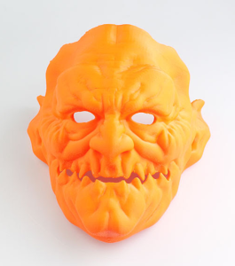 3d printed halloween costume demon_mask