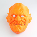 3d printed halloween demon_mask feature