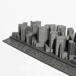 denver 3d printed skyline close feature