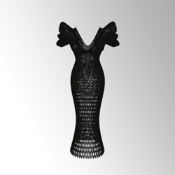 See Dita Von Teese's 3D Printed Gown Up Close on Sketchfab