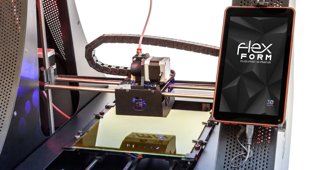 flexform 3D printer tablet