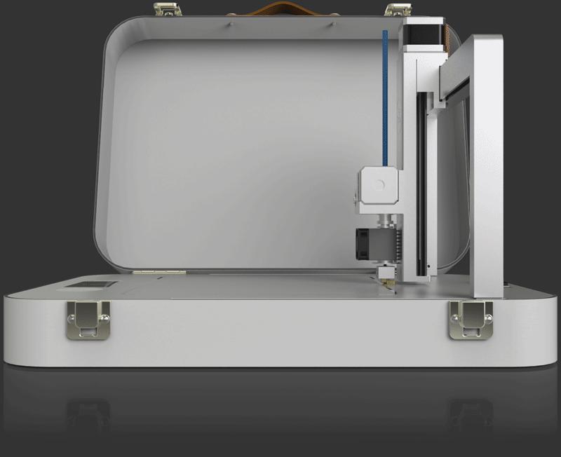 open By Flow 3d printer in case