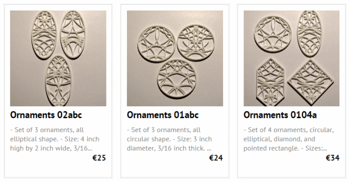 ornaments 3d printing krawczyk