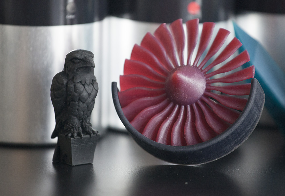 red fan madesolid 3d printing resin