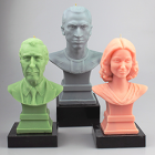 Your Scanned Head + Candle = Scandle, a 3D Printed Wax Mini You