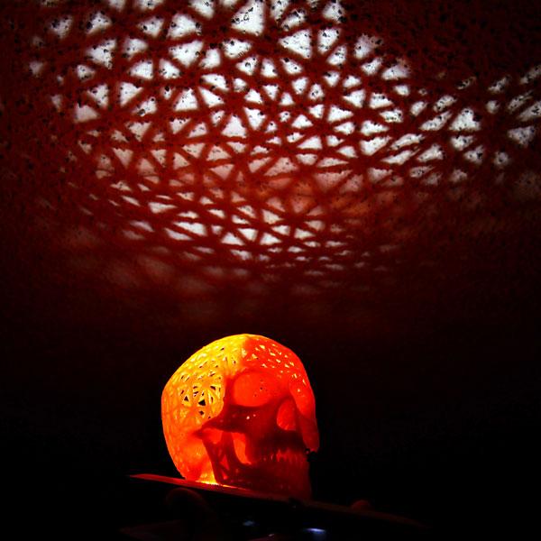 3d printed skull_lamp