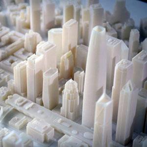 stratasys 3d printing city white