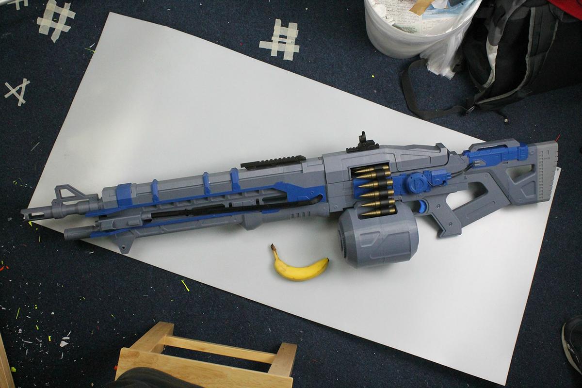 3d printed thunderlord gun_banana