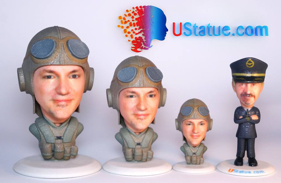 Full Color 3D Printed Selfies In Full Color With Just One