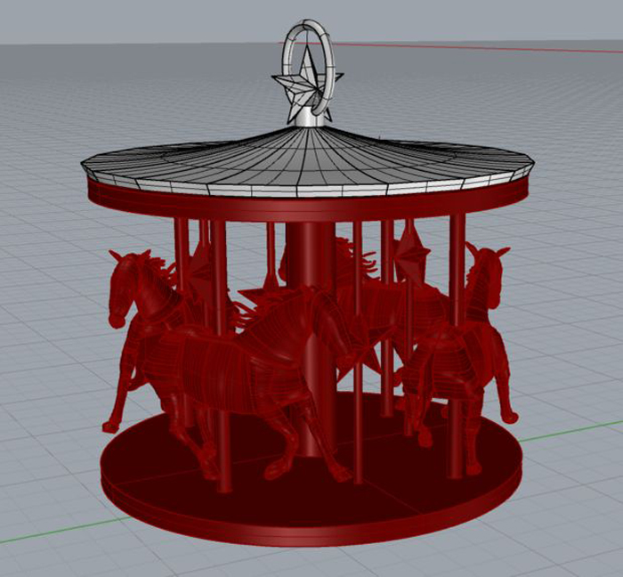 It is an image of Adorable 3d Print Christmas Ornaments