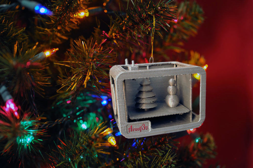 3D Printer Christmas Ornament by StemenInc Featured Contest Winner 3d printed