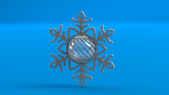 3D printed Elegant Spinning Snowflake by Beaconsfield