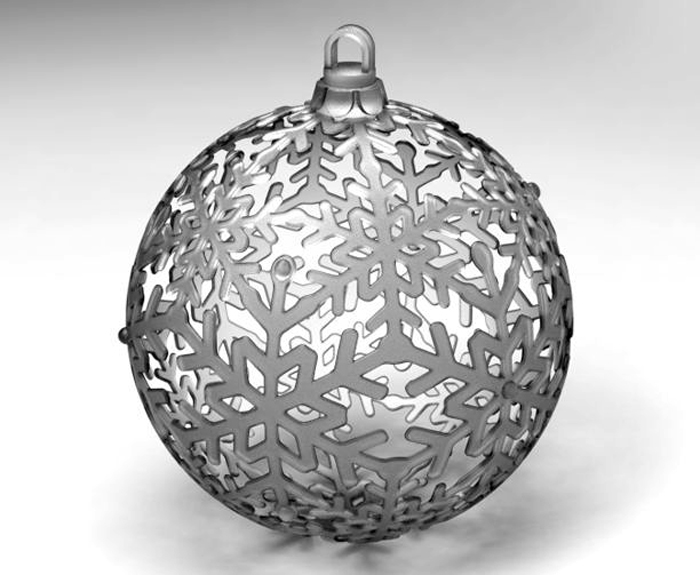 3d printed  3D Printed Winter Holiday Ornament by gilrdesign