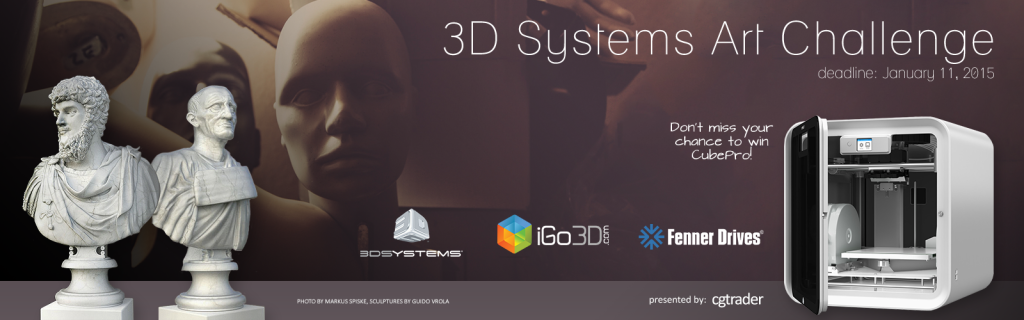 CGtrader 3d systems art challenge 3d printing