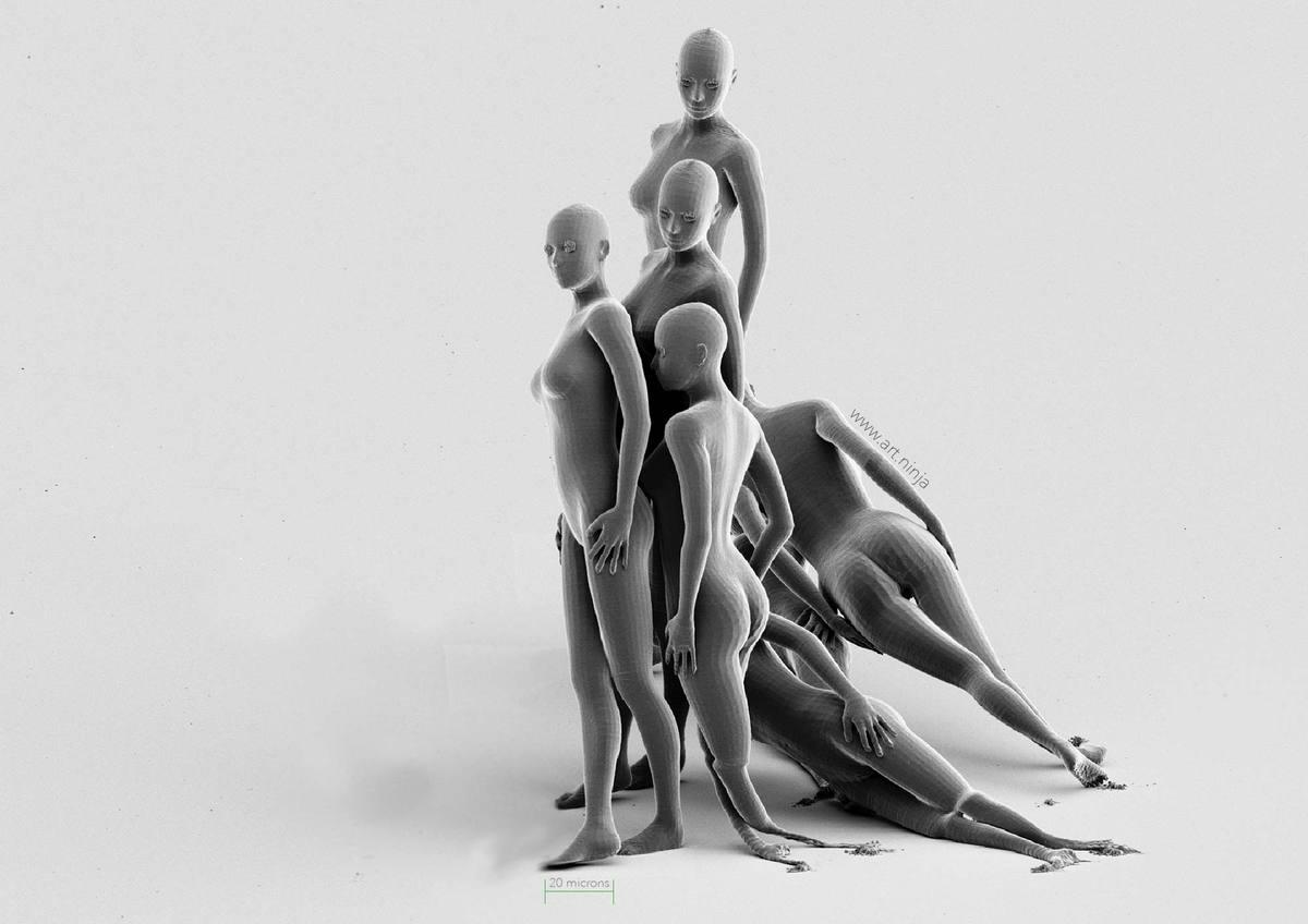 Jonty Hurwitz's Intensity 3D printed nanosculpture