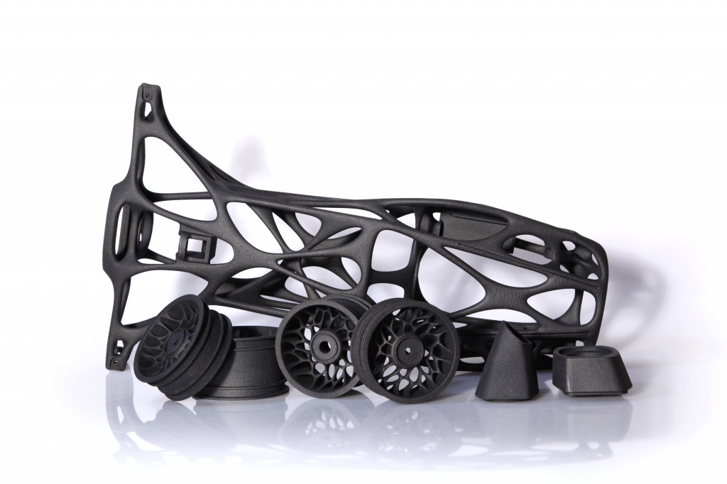 3D Printing Launches High Tech Rubber Band Car Across the Finish Line