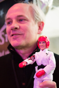 Possibility Place CEO Dan Lauer with 3D Printed AvaStars Doll
